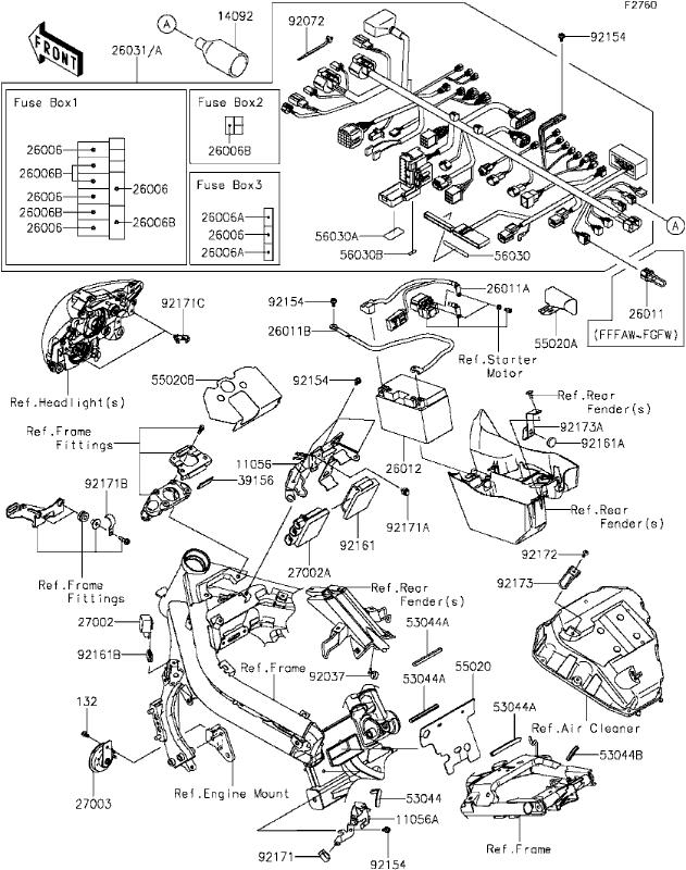kawasaki z800 fuse box